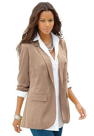 Women's Plus Size Boyfriend Blazer at Amazon Women's Clothing ...