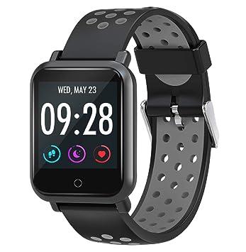 f42079185f Amazon | 【2019年最新型・IP68完全防水】スマートウォッチ 心拍計 血圧 ...