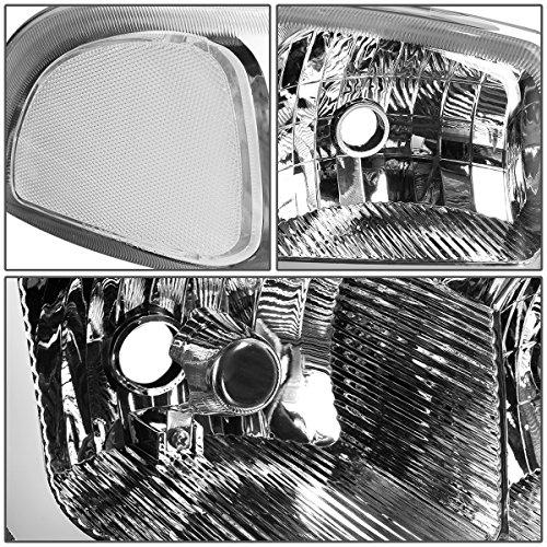 DNA Motoring HL-LB-SIERRA99-CH-CL1 4PCs LED DRL Strip Headlight+Bumper Lamp [For 99-07 GMC Sierra/Yukon]