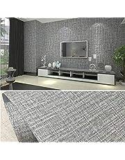 PVC waterdicht zelfklevend behang textielachtig patroon kleeffolie waterdicht behang 10 x 0,6 m decoratief peel stick behang muur sticker rol