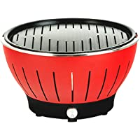 Advwin Mini BBQ Grill, Indoor and Outdoor Stove for 2-6 Peoples, Red, 36x22x21.5cm
