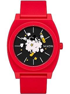 f2b39ae8 Amazon.com: Nixon Men's x Mickey Sentry Watch, 42mm, Black/Mickey ...