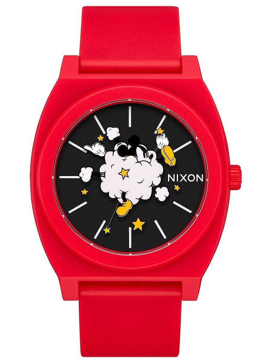 Nixon Men's x Mickey Time Teller, 39mm, Red/Black/Fight Cloud, One Size
