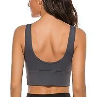 nine bull Sports Bras for Women - Womens Longline Wirefree Padded Sports Bra Yoga Bra Crop Top