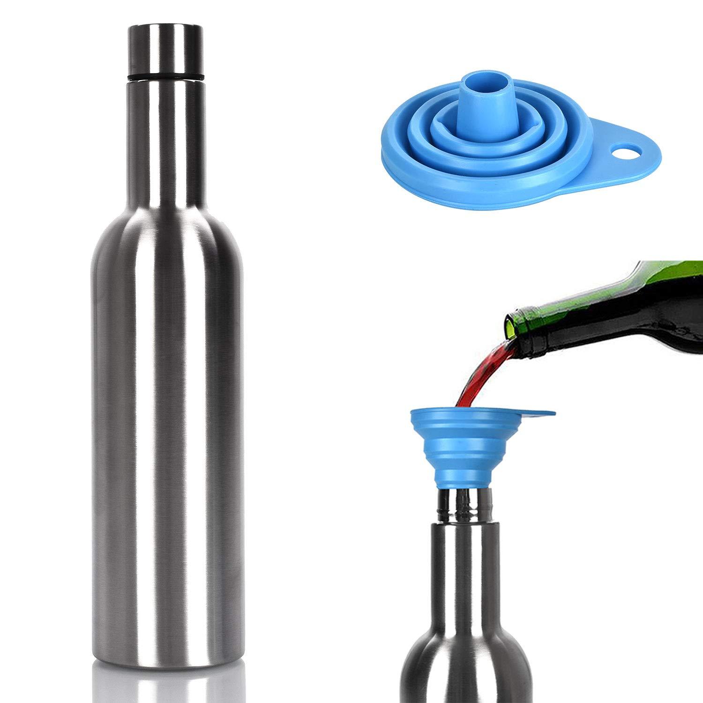 【驚きの値段で】 ステンレススチール製ステムレスワイングラスタンブラー | 蓋付き Silicone 12オンス | 二重壁真空断熱トラベルタンブラーカップ B07MSKR9M8 ワイン/コーヒー/ドリンク/シャンパン/カクテル用 2セット ローズゴールド+ブルー JWineGrowler190110-US Wine Growler + Silicone Funnel B07MSKR9M8, 子供のズボン屋:859ae267 --- a0267596.xsph.ru