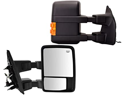 Amazon.com: Right Side Towing Mirror Powered for Ford F250 F350 F450