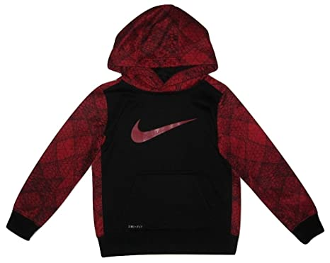 67bc28d6a Image Unavailable. Image not available for. Color: Nike Boys Therma-Fit  Fleece Geometric Hoodie - Black/Red ...