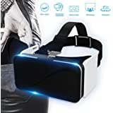 Foldable Cell Phone VR Headset and VR Goggles, BOKIN Pocket 3D Virtual Reality Glasses for IPhone and Android with Adjustable Eye Care System.