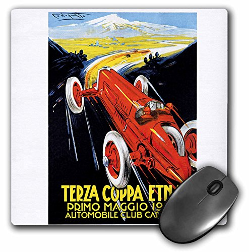 Car 1927 - 3dRose BLN Vintage Automobiles and Racing - Vintage Terza Coppa Etna Primo Maggio 1927 Automobile Club Catania - MousePad (mp_126164_1)
