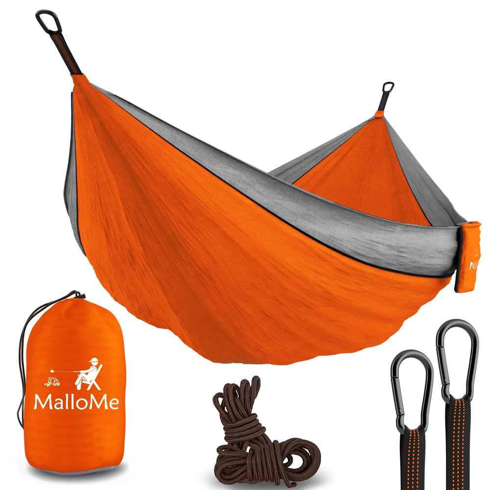 Extra Large Portable Double Parachute Camping Hammock - Tree.