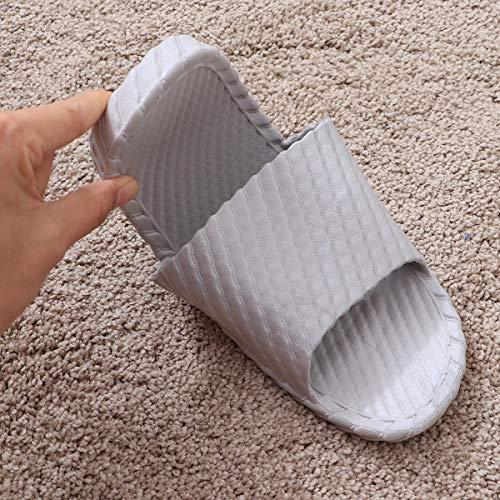 Pantoufles De D'été Anti Sandales La Douche 40 Chaussons Bestoyard 41 Bain Paire glisse Maison gris Taille Coulisses Pour Chaussures 1 Intérieur nWg77EwP