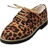 11f4deb3a33 Amazon.com: Outtop(TM) Women Leopard Print Ankle Boots Ladies Lace ...