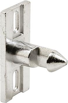 Pack of 1 Aluminum Finish Prime-Line MP2094 Sliding Door Keeper with Zinc Diecast