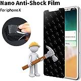 iPhone X screen protector, Nano Shield Screen Protector, Anti-Shock, Anti-Scratch, Super Flexible Nano Shield Materials, Protects the screen for iPhone X/10