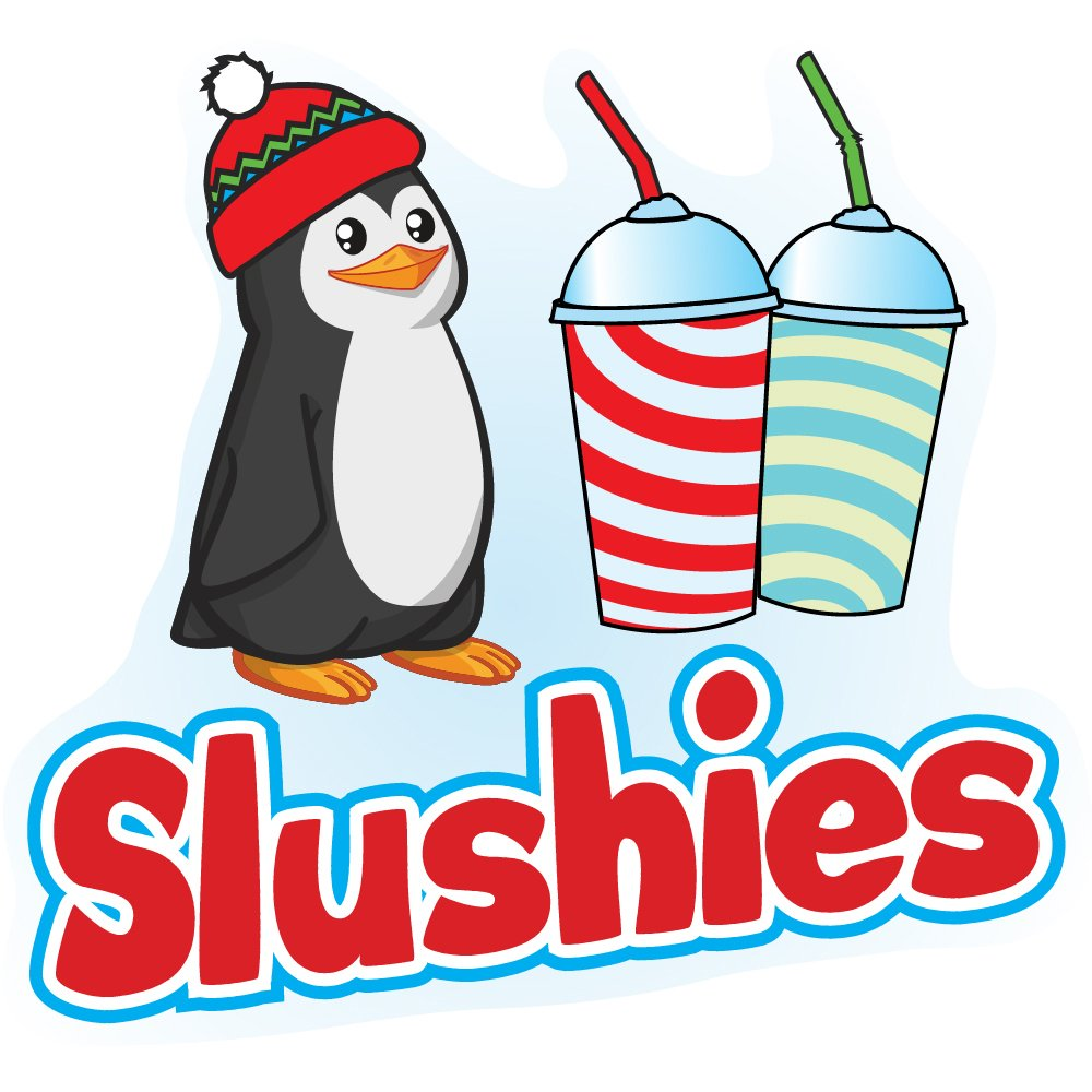 SLUSHIES 24 Concession Decal Sign cart Trailer Stand Sticker Equipment