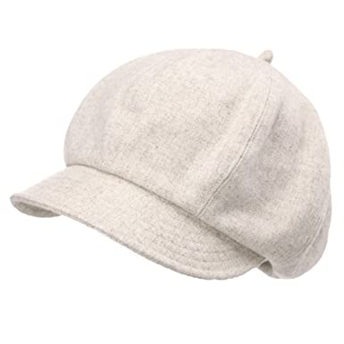 7e7767d96ed34 Jeff   Aimy Womens 51% Wool Winter Cap Cold Weather Newsboy Hat Ladies  Berets Visor