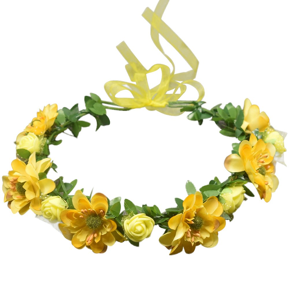 Eastlion Womens And Girl Flower Crown Hair Wreath Floral Headband