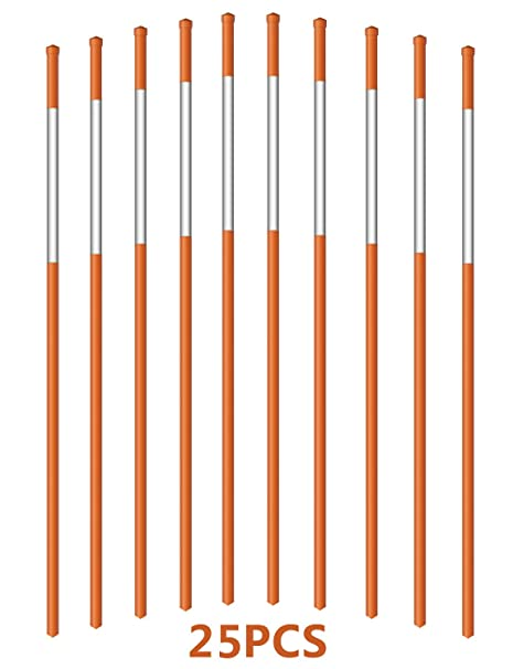 Fiberglass with Reflective Tape Pack of 300 Walkway Stakes 48 inches 5//16 inch