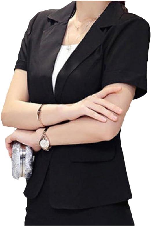 Asian Chinese Women Ladies ¾ Sleeve Office Wear Jacket Shirt Top Jacket