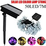 23ft/7Mtr 50LED Solar Flower Outdoor String Lights Warm White/Blue/White/Pink/Purple/red/RGB Outdoor Waterproof Mini Peach Blossom Fairy Decorative String Lights for Holiday Decorations