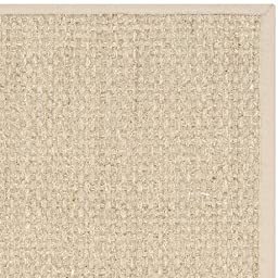 Safavieh Natural Fiber Collection NF114A Basketweave Natural and  Beige Seagrass Area Rug (5\' x 8\')