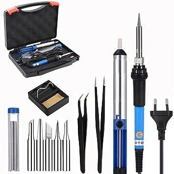 Kit eléctrico soldador 6 en 1 con temperatura ajustable 200 – 450 °C, 5