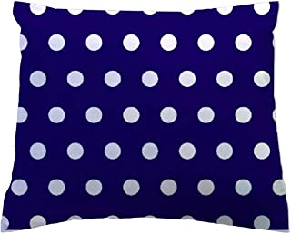 product image for SheetWorld - Toddler Pillowcase Hypoallergenic Made in USA - Polka Dots Royal 13 x 17