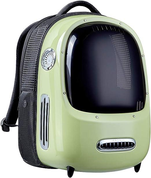 PETKIT Mochila para Gatos, Mochila de Viaje para Cachorros, Ventilador Incorporado y Sistema de iluminación, Mochila para Transporte de Mascotas Bien Ventilada, Ligera y Cómoda (Verde): Amazon.es: Productos para mascotas