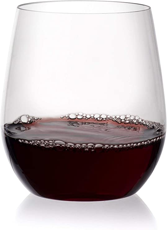 Modern 4pc Stemless White Wine Glasses