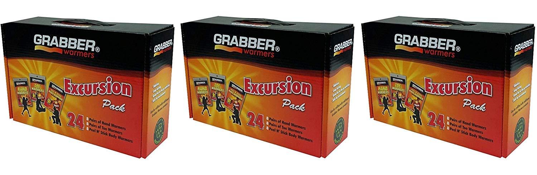 GRABBER WARMERS Grabber Excursion Multi-Pack Warmer Box, 8 Pair Hand, 8 Pair Toe, 8 Peel N' Stick Body Warmers, 24-Count (48-Count) by GRABBER WARMERS
