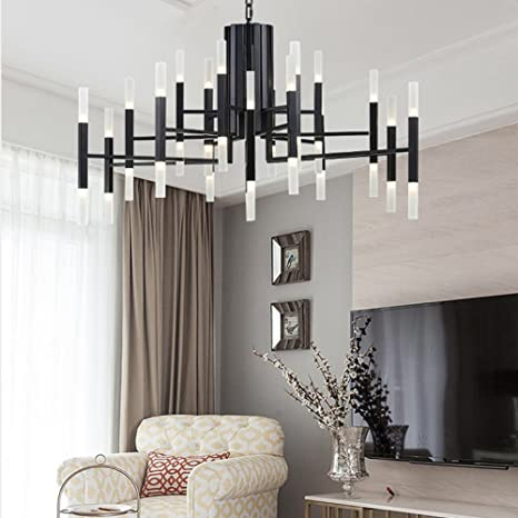 Modern Metal Chandelier Acrylic Living Room Ceiling Light G48 LED New Living Room Pendant Light