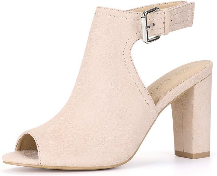 Women Block Heel Sandals Slingback