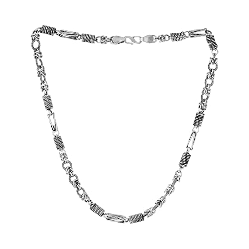 2a4210c2c Voylla Linking Laureate Men's Oxidised Silver Chain: Amazon.in: Jewellery