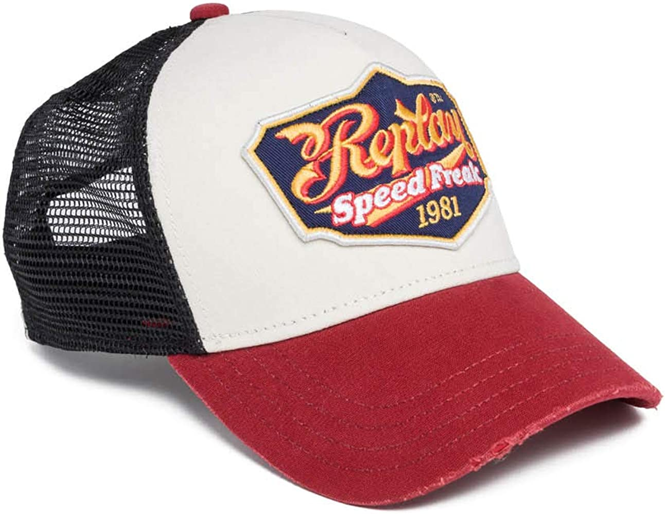 REPLAY Am4203.000.a0387 Gorra de béisbol, Multicolor (Red+Blck+Old ...