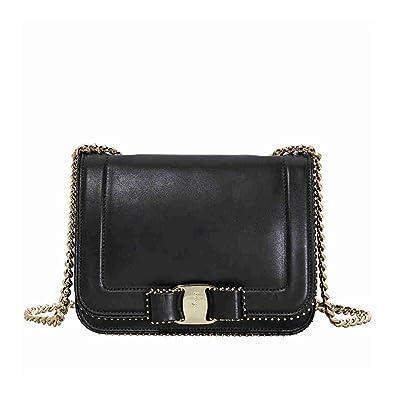 3a28d1eb0aa4 Salvatore Ferragamo women s leather cross-body messenger shoulder bag vara  black  Amazon.co.uk  Shoes   Bags