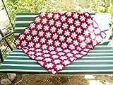 Snowflake granny square afghan blanket, handmade snowflake blanket