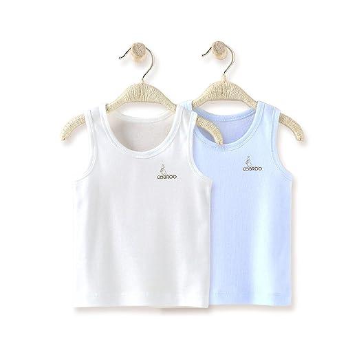c196faf83 COBROO Newborn Baby Boy Tank Tops Cotton Sleeveless 2-Pack Cami Undershirt 3 -4T