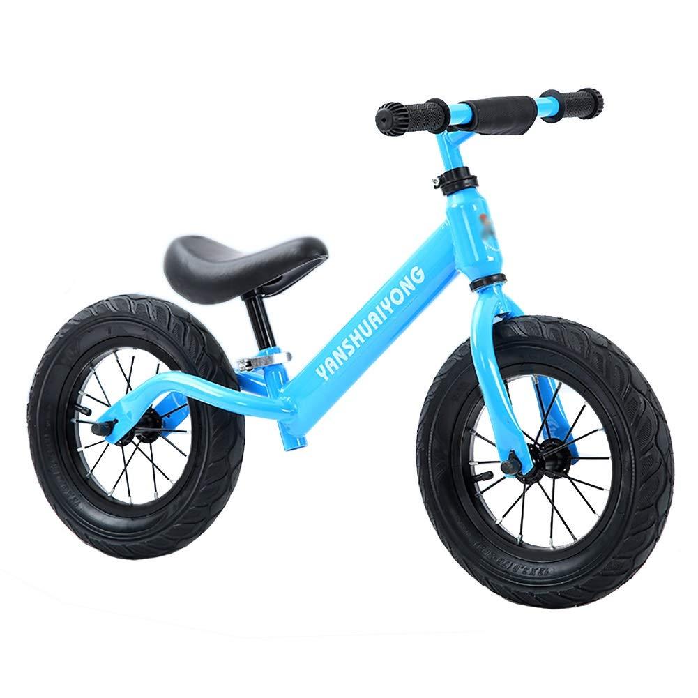 Bicicletta Senza Pedali Baby Balance Bike, Biciclette per Bambini da 2 a 6 Anni, perfette Come Regalo di Compleanno, Giocattoli da Equitazione sicuri per la Bambina (colore   Blu)