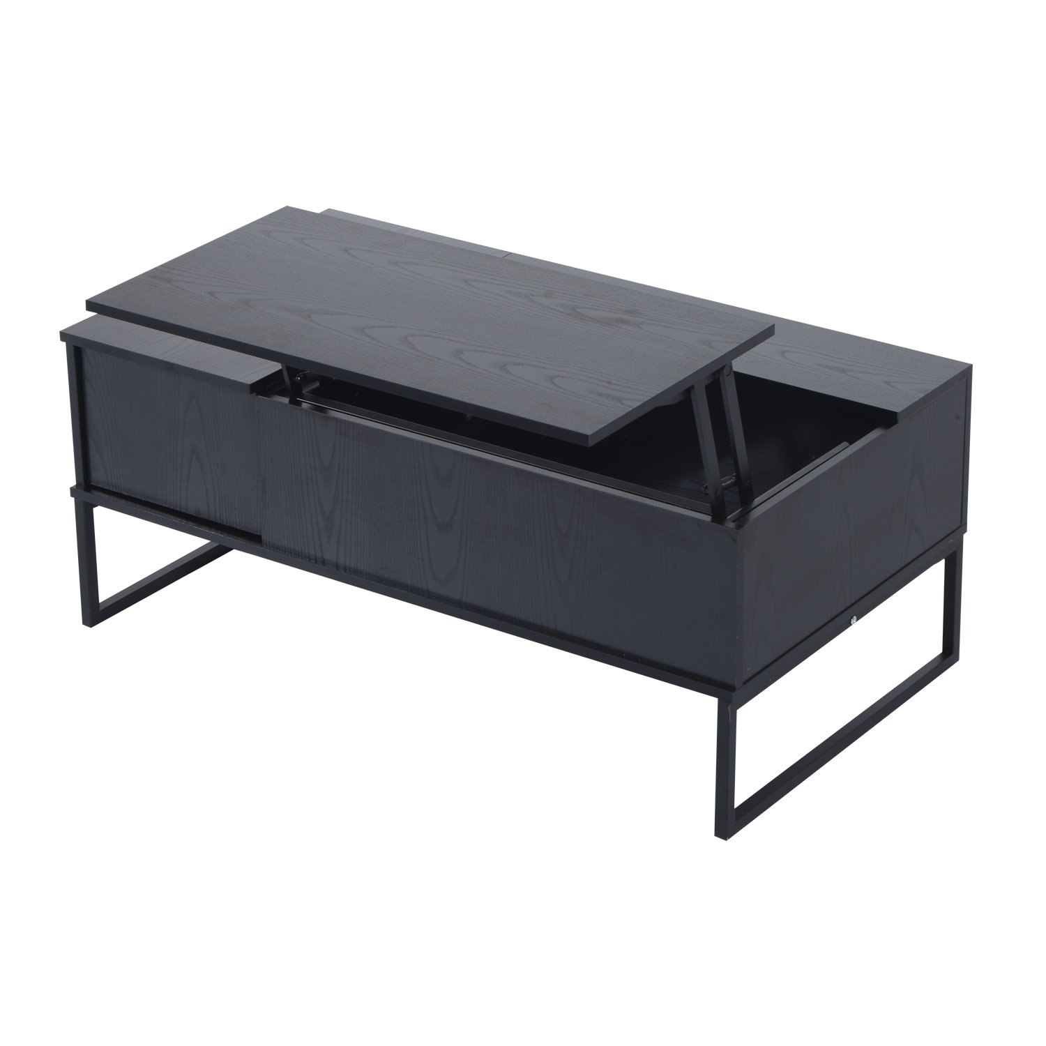 HOM Foldable Wood Lift Top coffee Table Convertible Tea Desk