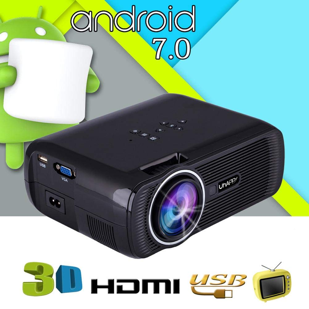 HD 1080P Video Projector Home Cinema LED Mini Projector 7000 Lumen HDMI GL