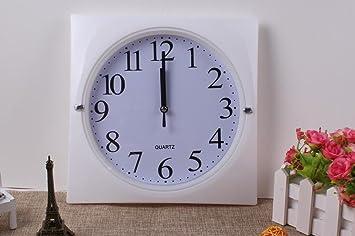 Aoligei Reloj plástico de la Plaza Reloj Relojes Digitales El Reloj de Pared Perfecto para una Oficina, salón de Clases, Dormitorio o baño: Amazon.es: Hogar