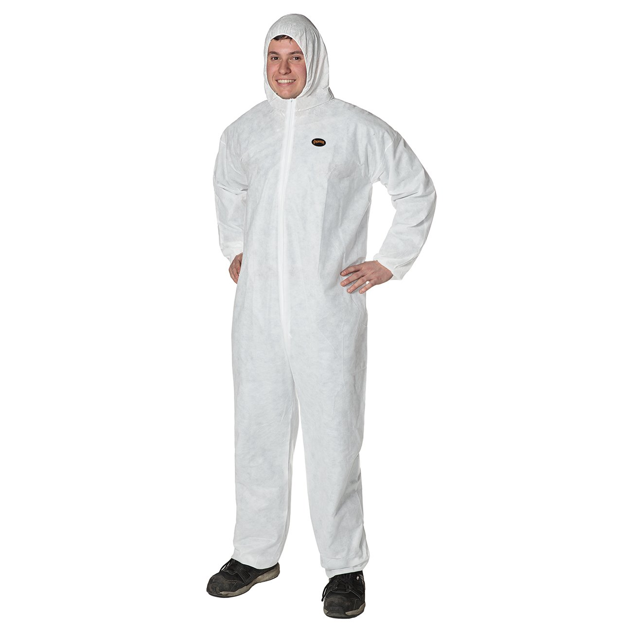 Pioneer V7014550-XL Breathable SMS Disposable Coverall, Dry Particulates and Fluid Protection, XL