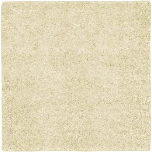 Surya Aros AROS-2 Shag Hand Woven 100% New Zealand Felted Wool Winter White 8' Square Area (Rugs Aros Wool Shag Rug)