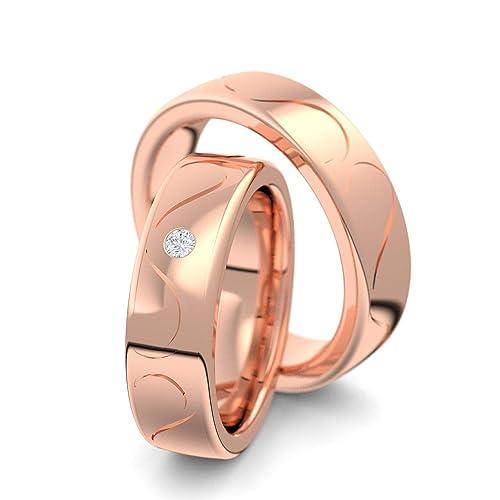 alianzas alianzas de anillos de compromiso anillo de oro rojo de la amistad (Plata 925 de ...