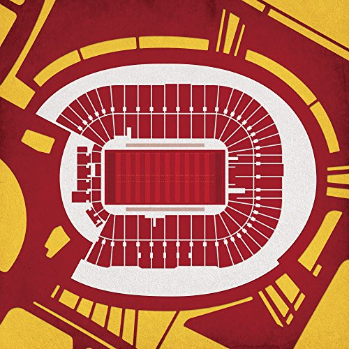 Tcf Bank Stadium Map Art  30  Gallery Wrapped Canvas