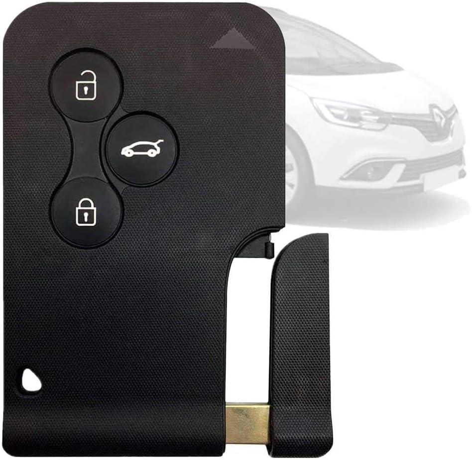 1 Ociodual Autoschlüssel Ersatz Fernbedienung Schlüssel Schlüsselanhänger Flip Mit 3 Tasten Schwarz Für Renault Clio Megane