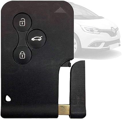 3 Tasten Funk Schlüssel Gehäuse Für Renault Megane II Karte Fernbedienung *Neu*