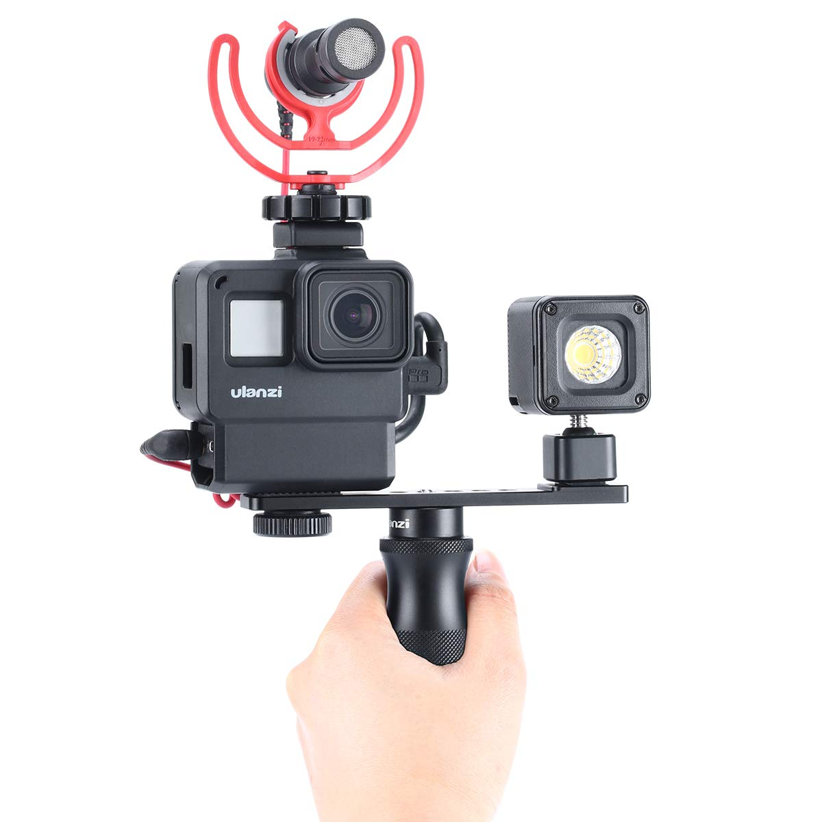 ULANZI PT-5 Vlog Cold Shoe Bracket Extension Bar Apply for Microphone LED Video Light w 1//4 Tripod Screw for Sony A6400 6300 6500 6000 Nikon Canon G7X II III Mirrorless Camera Vlogging Accessories