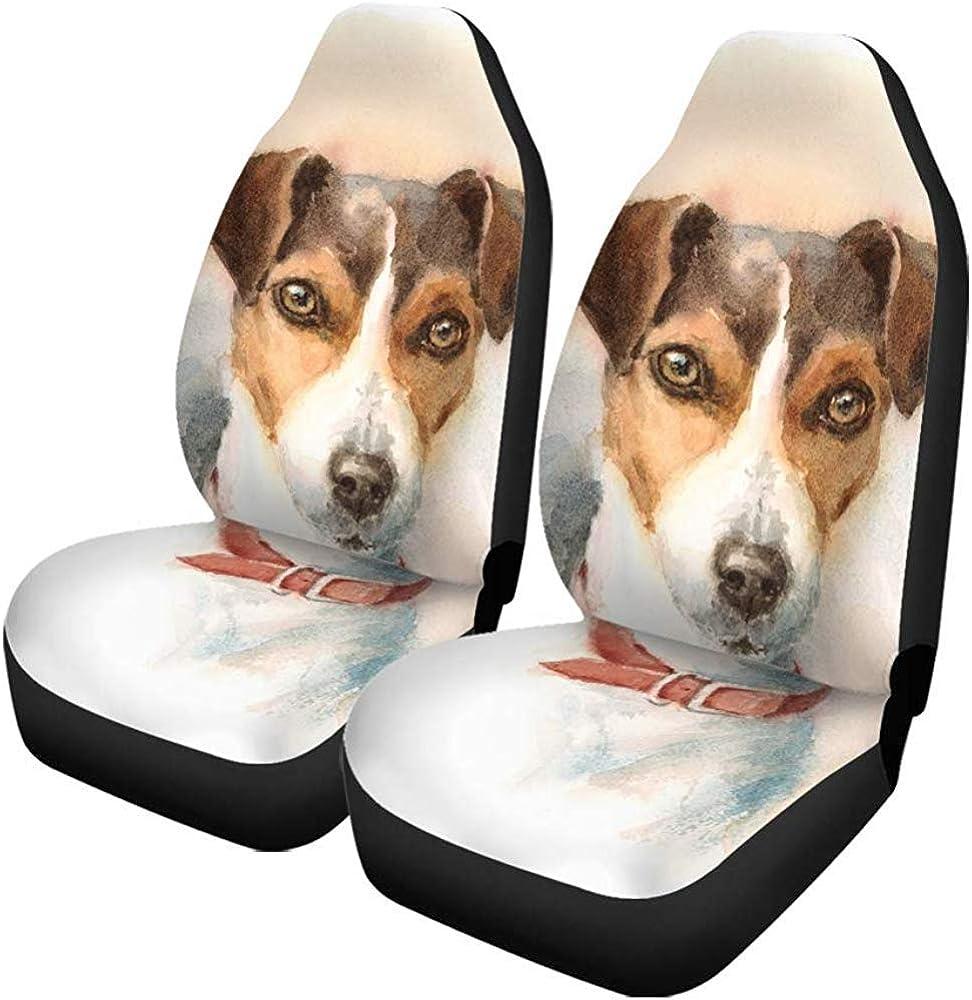 2 fundas para asientos de coche, animales, acuarelas, perros ...