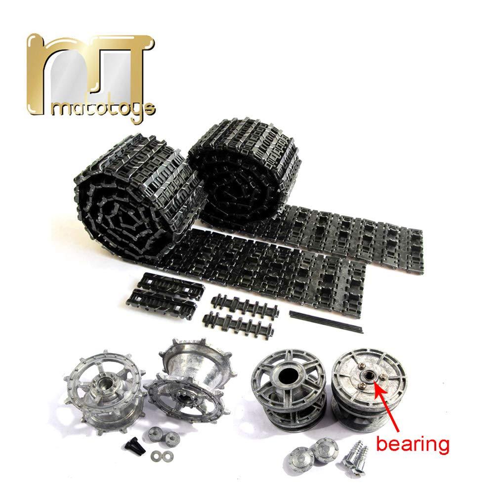 Mato King Tiger Metal Tracks Sprockets Driving Wheels idlers Set for Heng Long 3888-1 3888A-1 1 16 RC Kingtiger Tank Bearings